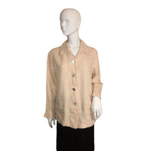 Talbots Long Sleeve Top Tan Size Small